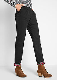 Pantaloni chino termo negru bpc bonprix collection 1