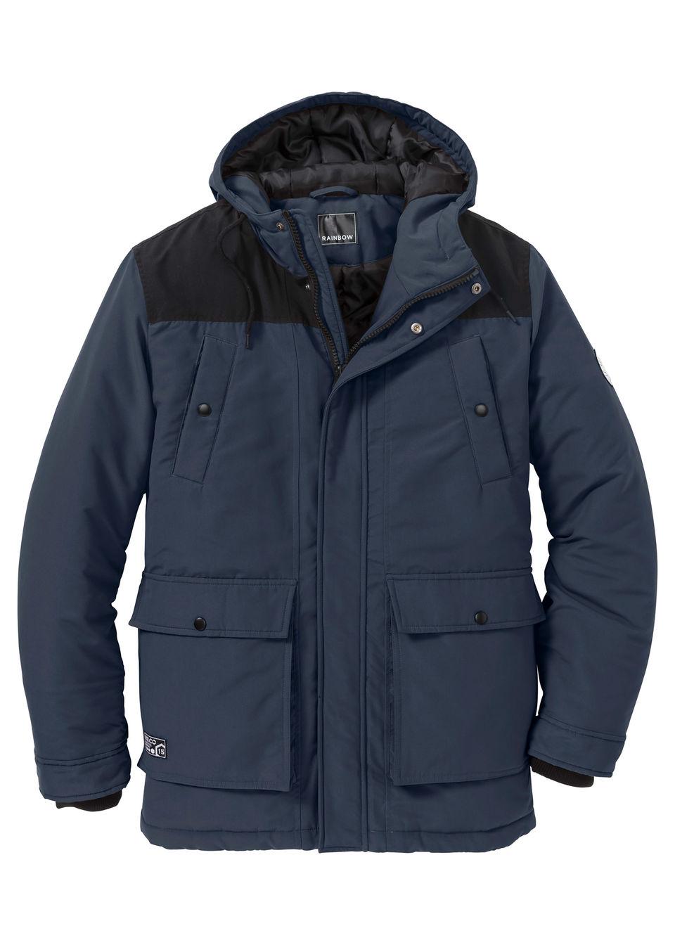 Купить Зимняя куртка-парка Regular Fit, bonprix, темно-синий