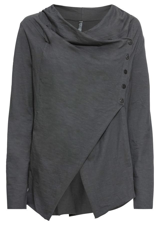 Tričko s diagonálnou gombičkovou légou