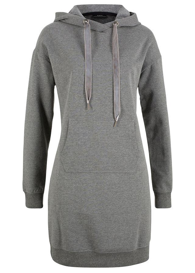 Mikinové šaty sivá melírovaná Celková • 12.99 € • bonprix 112de2c51b6