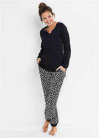 Pijama negru/alb cu model bpc bonprix collection 1