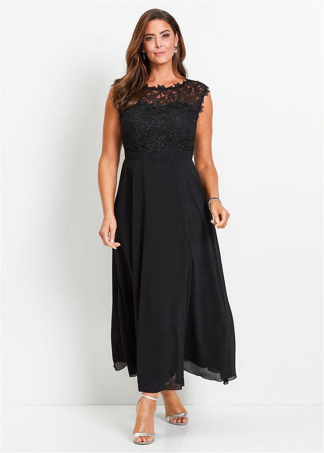 Večerné šaty s čipkou čierna Elegantné • 59.99 € • bonprix 94eeee631e3