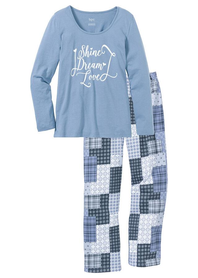Pizsama matt kék mintás Kiváló kényelmet • 4999.0 Ft • bonprix 25714bd40c