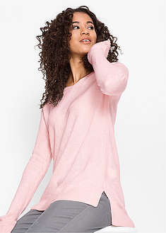 Sweter oversize z rozcięciem bpc bonprix collection 56