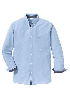 Koszula z długim rękawem i haftem Regular Fit niebieski