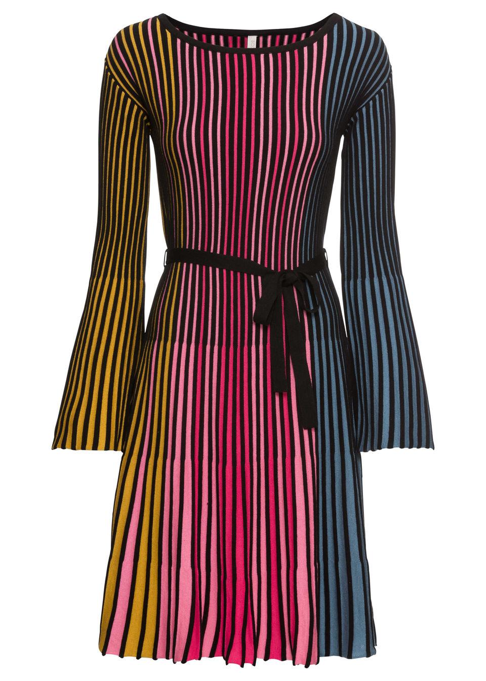 bonprix / Платье вязаное плиссированное