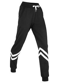 Pantaloni sport nivel 1 negru/alb bpc bonprix collection 0