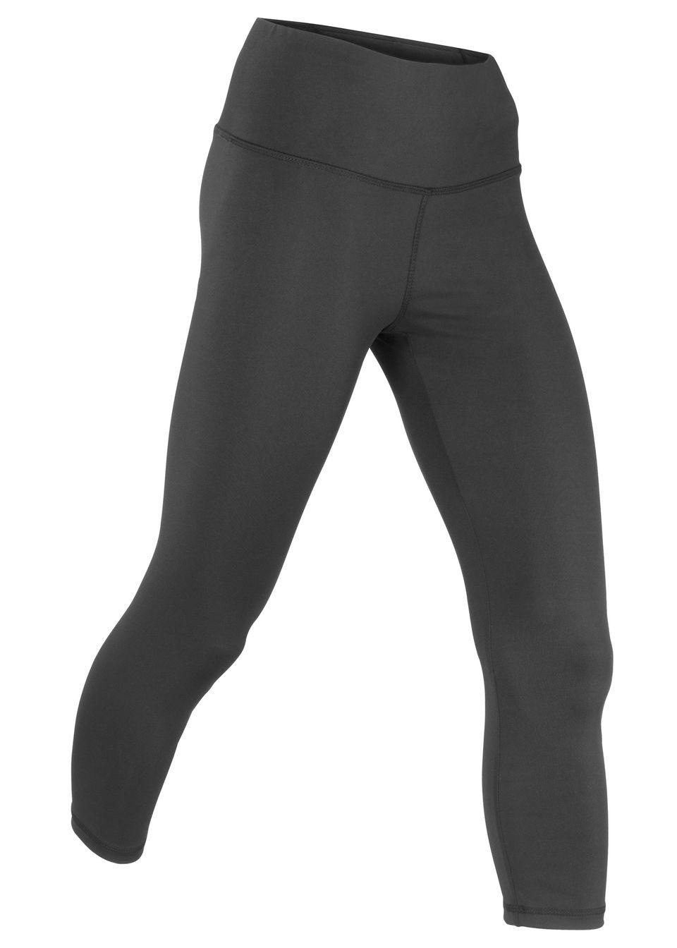 Legginsy sportowe shaping, dł. 3/4, Level 2 bonprix czarny