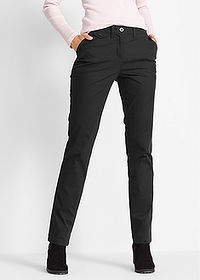 Spodnie chino STRAIGHT czarny bpc bonprix collection 1