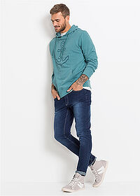 Blugi stretch Slim Fit, drepţi albastru denim RAINBOW 3