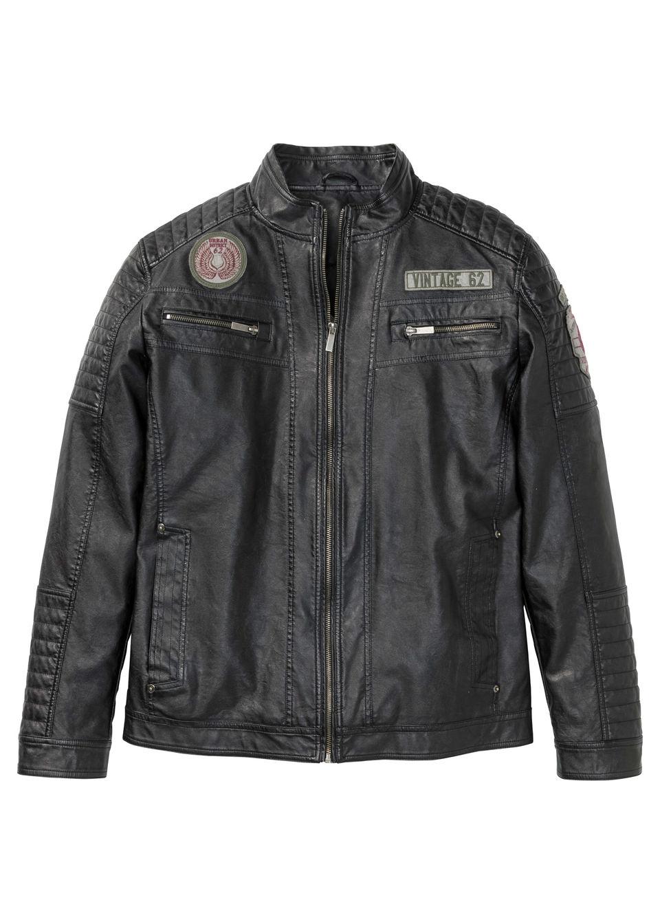 Купить Куртки и плащи, Куртка из искусственной кожи, bonprix, антрацитовый