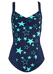 Costum baie shape, nivel 1 marin/verde bpc bonprix collection 14