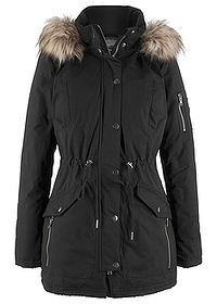 Parka ocieplana czarny bpc bonprix collection 0