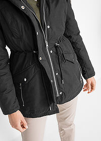 Parka ocieplana czarny bpc bonprix collection 5