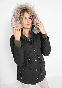 Parka ocieplana czarny bpc bonprix collection 1