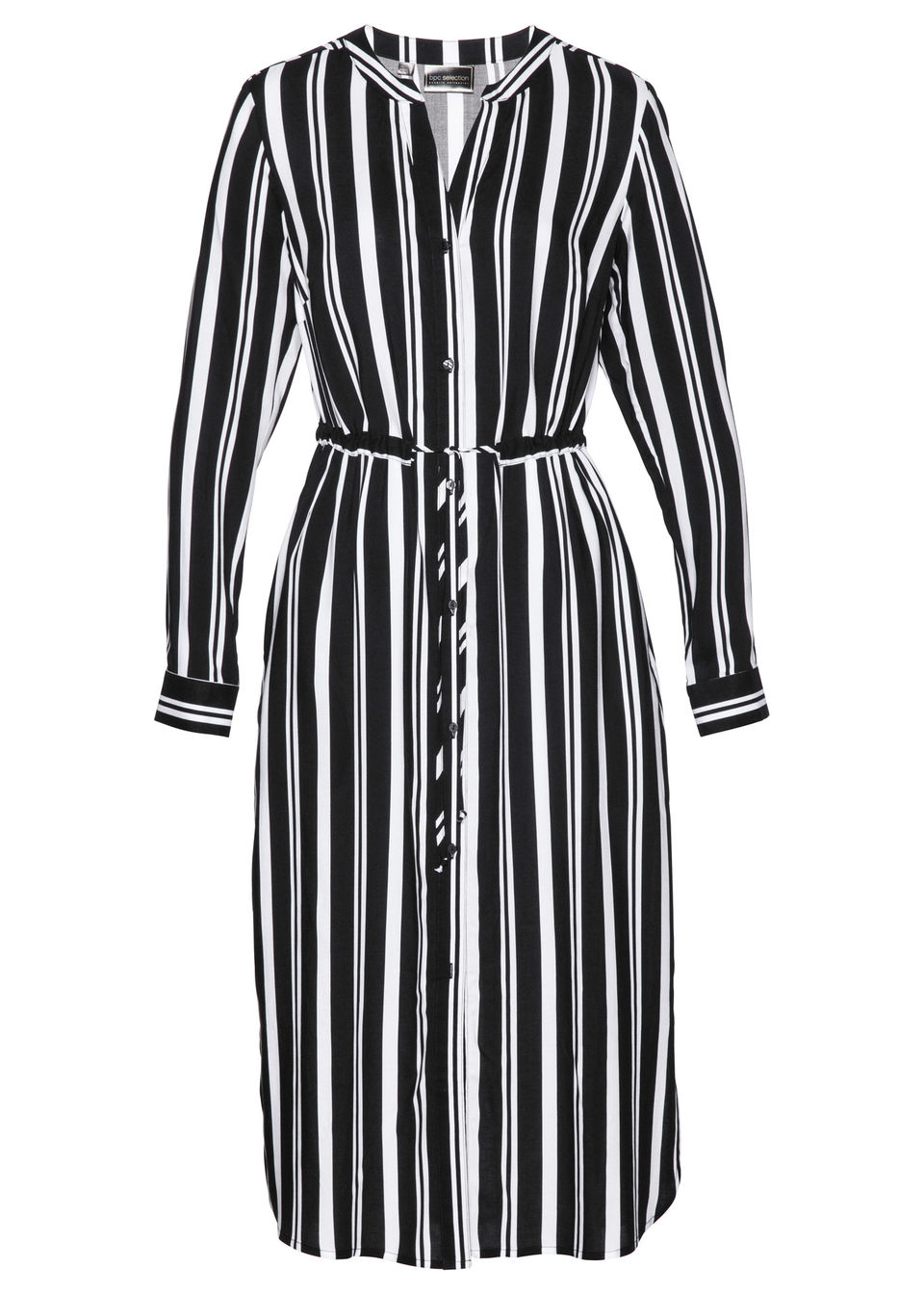 Купить Платье рубашечного покроя, bonprix, черный/белый с рисунком