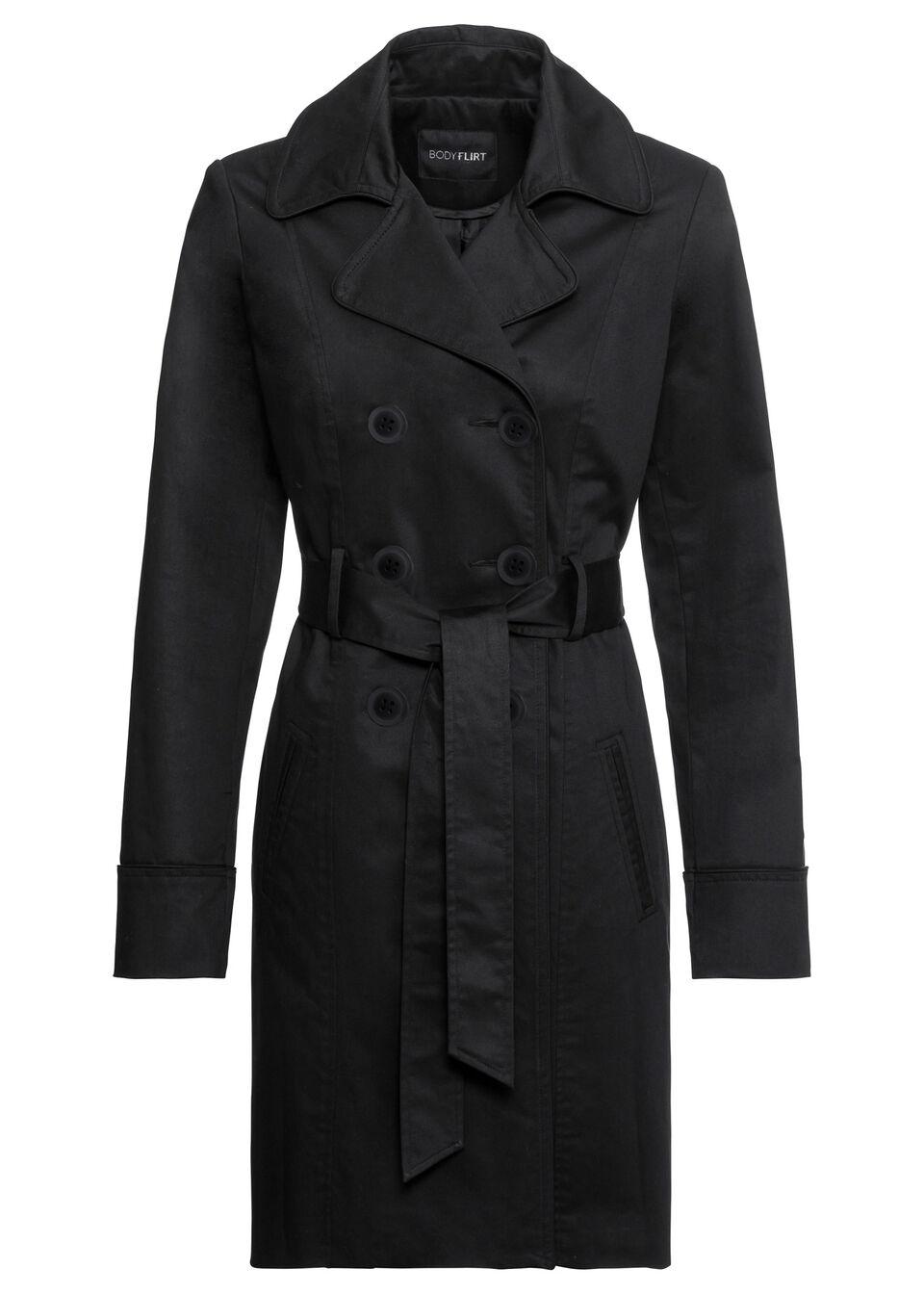 Płaszcz trencz bonprix czarny