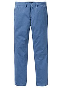 Spodnie chino Regular Fit Straight niebieski dżins bpc bonprix collection 0