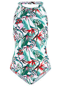 Costum de baie alb-verde imprimat bpc bonprix collection 0