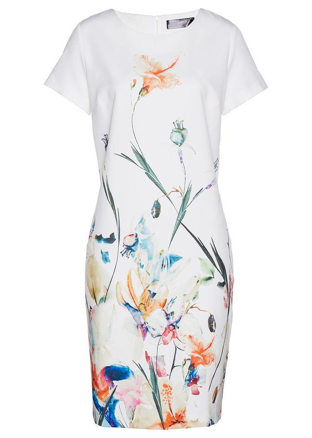 f701bf335542 Šaty biela-farebná kvetovaná Jarná • 24.99 € • bonprix
