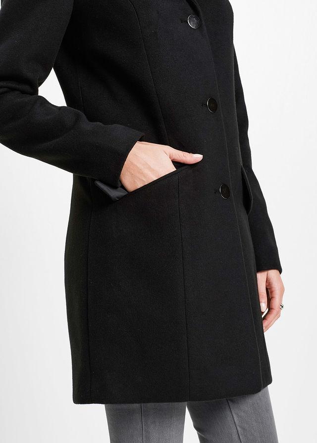 Płaszcz bonprix czarny
