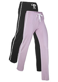 Pantalon sport 2 buc. nivel 1 negru/lila fumuriu bpc bonprix collection 0
