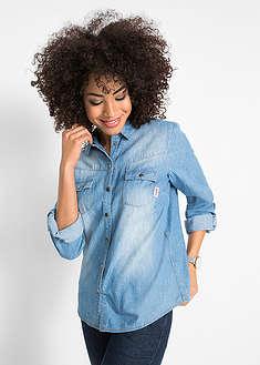 4d697a63c Женские джинсовые рубашки • от 349 грн 9 шт • bonprix магазин