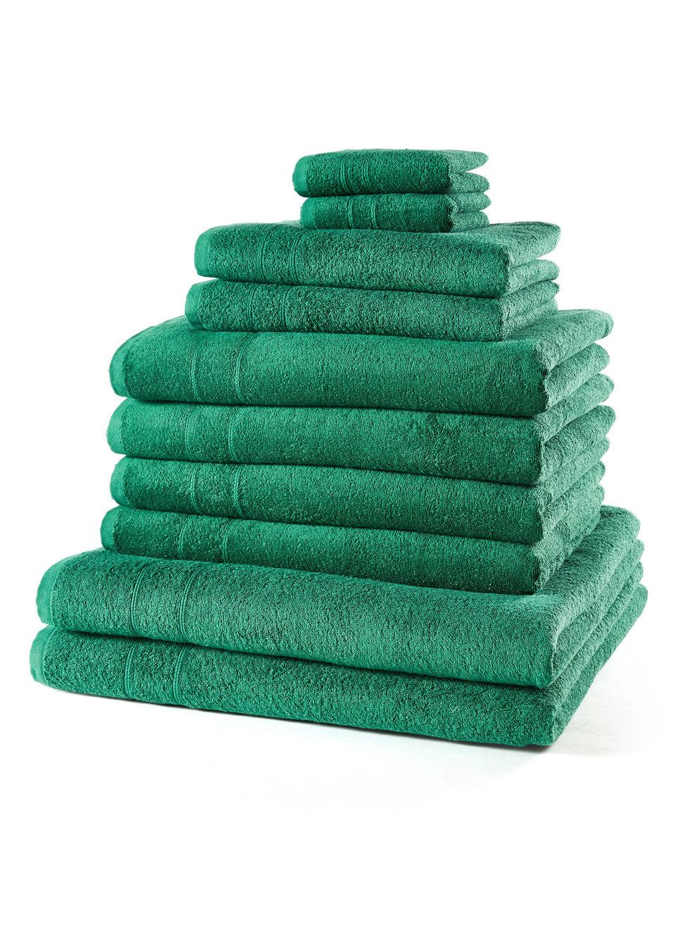 Купить Полотенца «Однотонная новинка» (10 шт.), bonprix, зеленый
