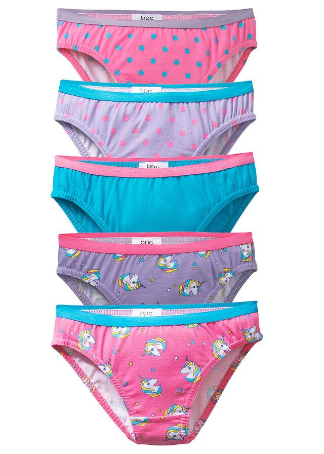 987292c95d Lányka alsó (5 db-os csomag) karibkék-flamingópink-fehér • 2745.0 Ft •  bonprix
