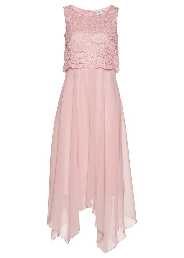 Šaty jemná ružová S elegantnou čipkou a • 39.99 € • bonprix 4ca10a32f1