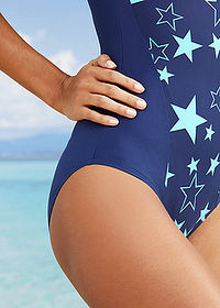 Costum baie shape, nivel 1 marin/verde bpc bonprix collection 5