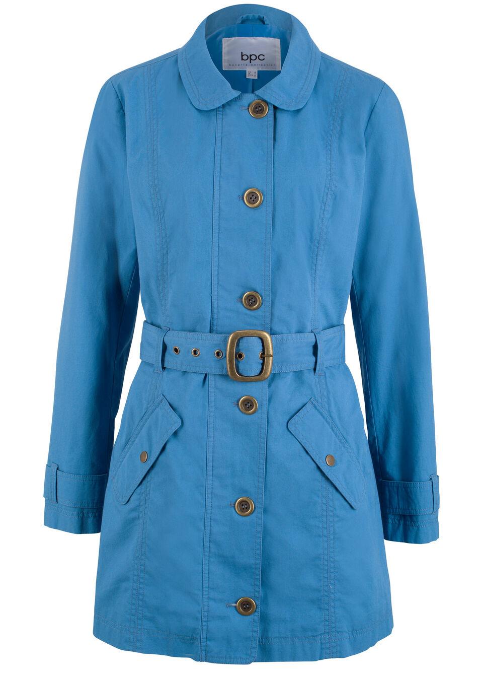 Płaszcz trencz bonprix błękitny