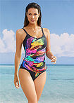 Costum de baie modelator negru multicolor bpc selection 0