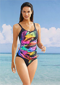 Costum de baie modelator negru multicolor bpc selection 1
