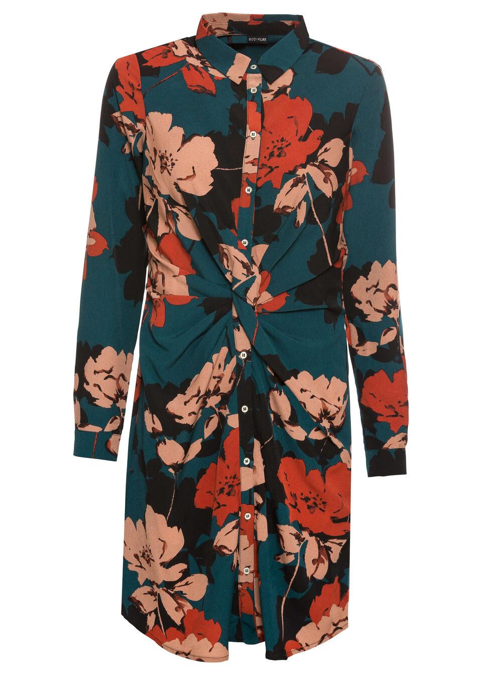 Платье-рубашка с драпировкой от bonprix