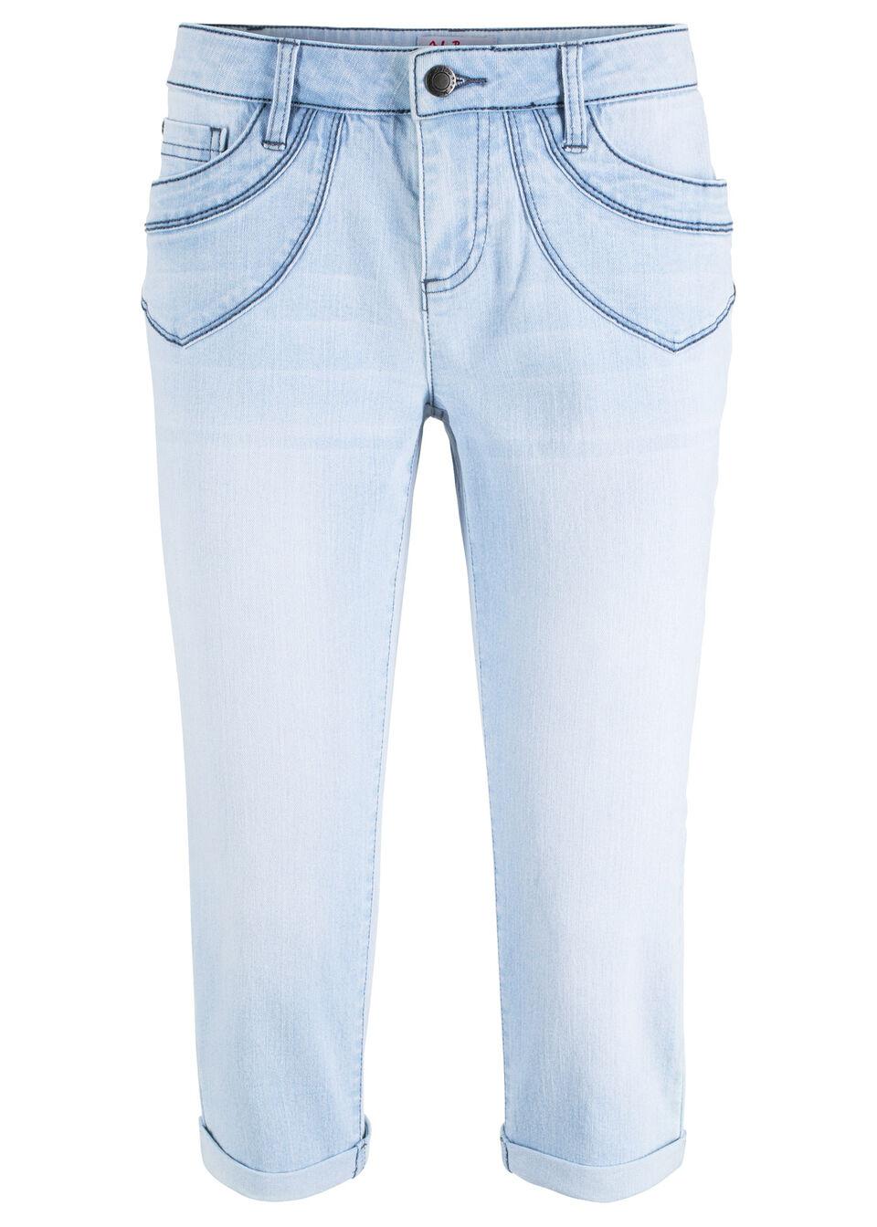 Удобные джинсы-капри из эластичного материала от bonprix