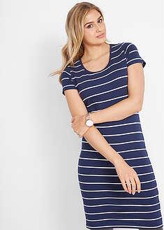 Sukienka shirtowa ze stretchem, krótki rękaw-bpc bonprix collection