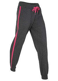Pantaloni jogging, nivel 1 negru-pink închis melanj bpc bonprix collection 0