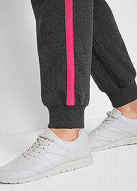 Pantaloni jogging, nivel 1 negru-pink închis melanj bpc bonprix collection 5