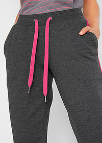 Pantaloni jogging, nivel 1 negru-pink închis melanj bpc bonprix collection 4