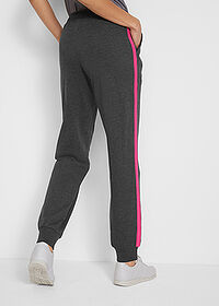 Pantaloni jogging, nivel 1 negru-pink închis melanj bpc bonprix collection 2