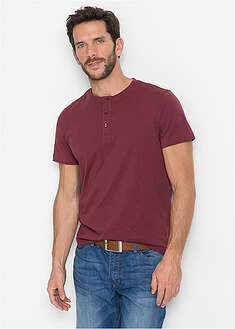 Shirt z dekoltem henley (3 szt.) bpc bonprix collection 52
