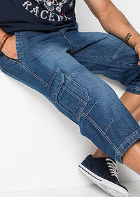 Regular Fit 3/4-es farmernadrág Straight kék John Baner JEANSWEAR 5
