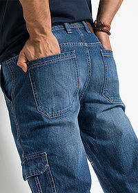 Regular Fit 3/4-es farmernadrág Straight kék John Baner JEANSWEAR 4