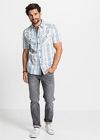 Regular Fit sztreccsfarmer Straight sötét denim John Baner JEANSWEAR 3