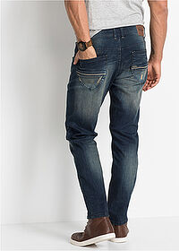 Blugi Slim Fit stretch, straight bleumarin stone John Baner JEANSWEAR 2