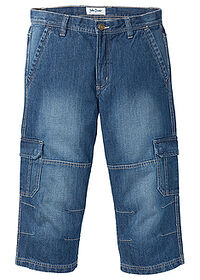 Regular Fit 3/4-es farmernadrág Straight kék John Baner JEANSWEAR 0
