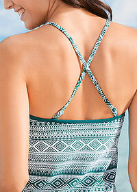 Tankini (2 piese/set) verde/alb bpc bonprix collection 4