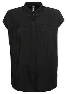 Bluzka czarny Bluzka z krótkim rękawem i