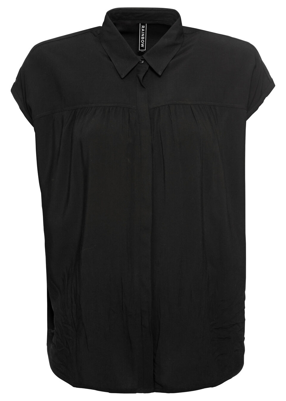 Bluzka z krótkim rękawem bonprix czarny